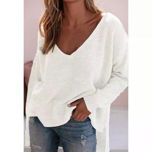 SPRING Oversized White Sweater